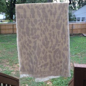Banana Republic Animal Print Blanket Scarf